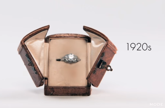 One Woman Model 100 Years of Engagement Rings