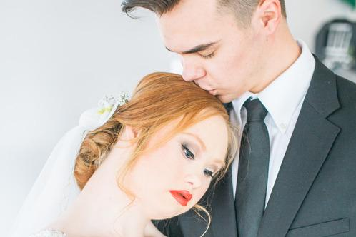 Model With Down Syndrome Stuns in a Wedding Photo Shoot