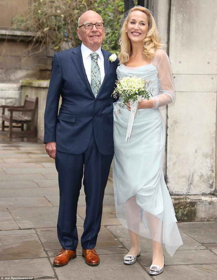 Rupert Murdoch and Former Model Jerry Hall's Wedding