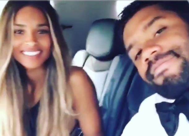 Ciara and Russell Wilson Attend Cousin's Wedding