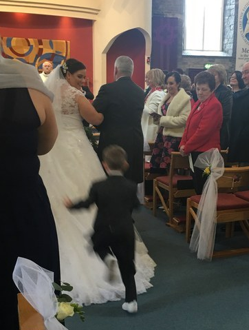 Video: Young Boy Dives Into Aunt's Wedding Dress