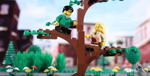 Couple Tells Their Love Story Through Legos