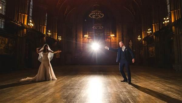 Inside A Couple's Magical Harry Potter Wedding Theme