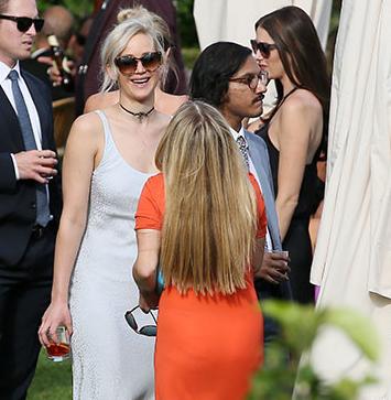 Jennifer Lawrence Attends Friend's Wedding