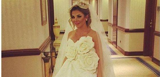 Razan Moughrabi Shares Picture in Wedding Dress