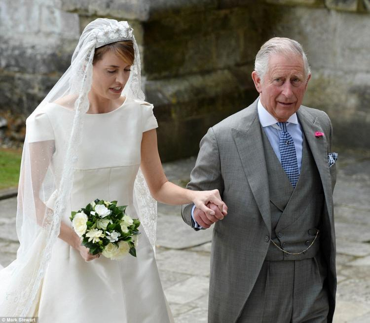 Queen Elizabeth Attends Wedding of Alexandra Knatchbul