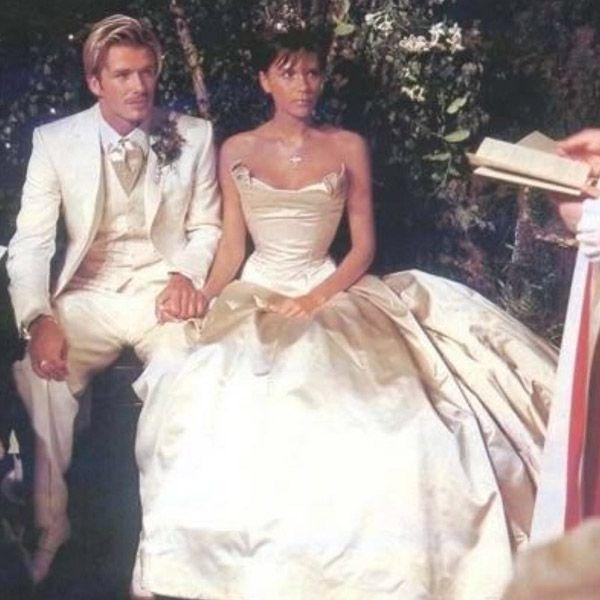 David and Victoria Beckham Share Throwback Wedding Photos