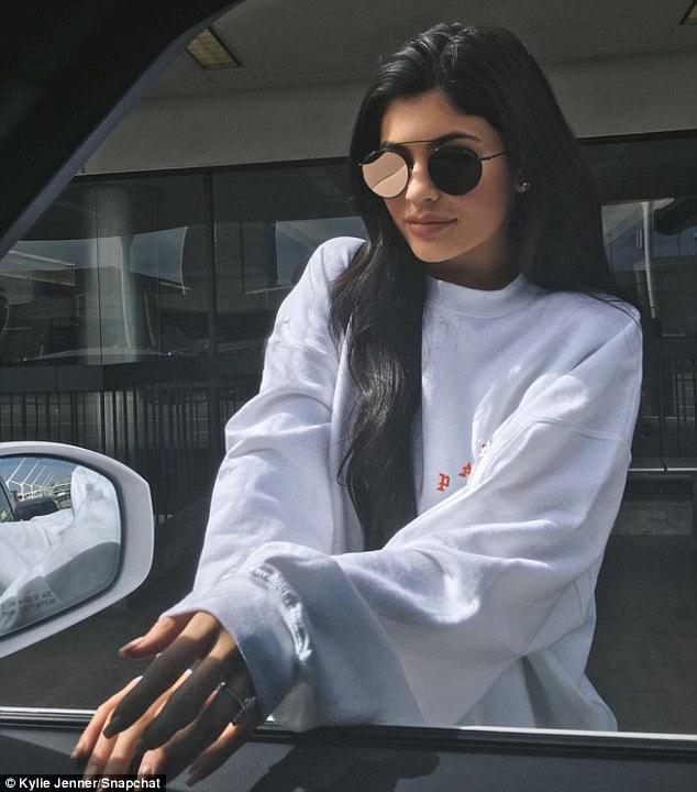 Kylie Jenner Shows Off Diamond Ring on Wedding Finger