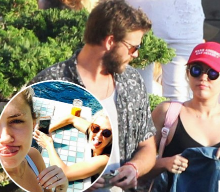 Miley Cyrus Shows Off Diamond Ring
