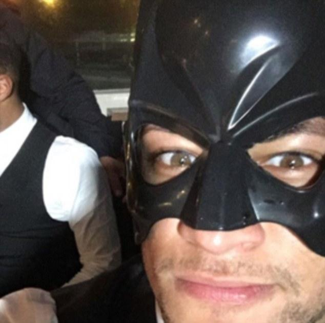 Neymar Wears Batman Mask to Attend Friend's Wedding
