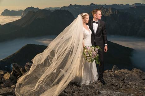 Video: Norway Couple Take Wedding Pictures to New Heights