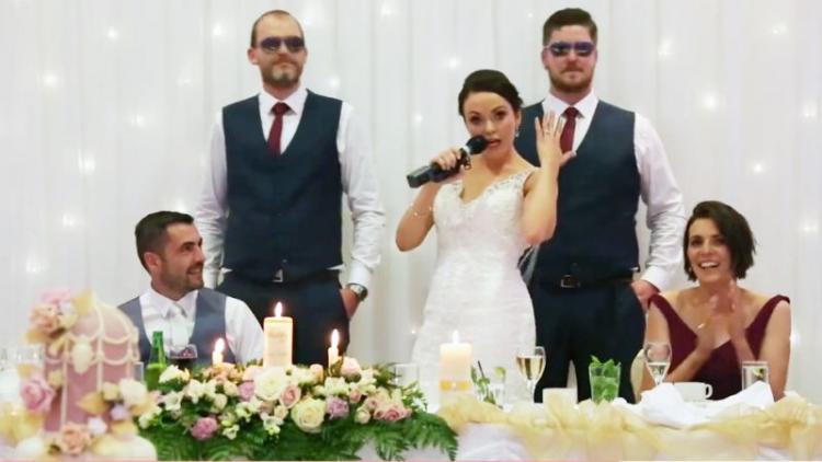 Video: Bride Raps Her Wedding Speech