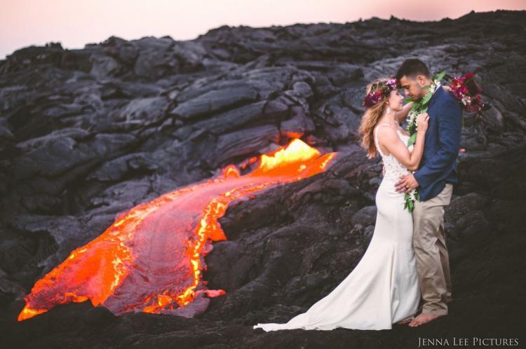 Couple Has Unique Wedding Photoshoot On Active Volcano