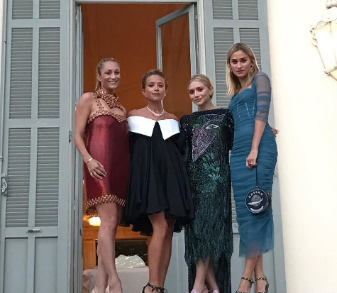The Olsen Twins Attend a Wedding in Style