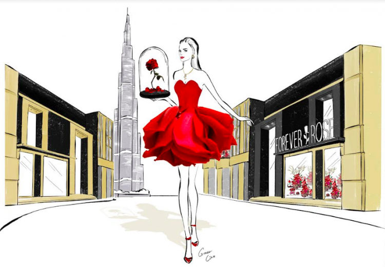 Forever Rose Opens World-Class New Boutique in City Walk Dubai