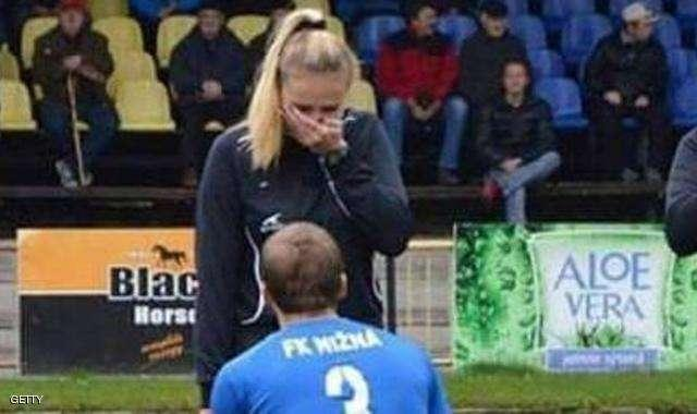 Slovakian Football Player Proposes During Match