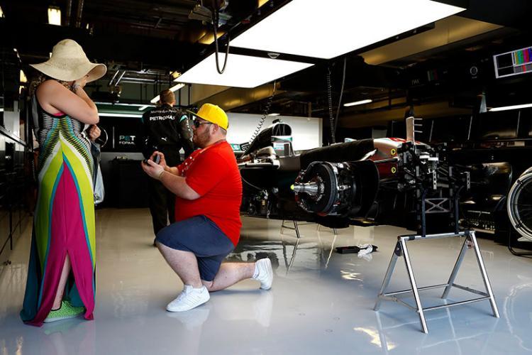 A Unique Formula 1 Marriage Proposal