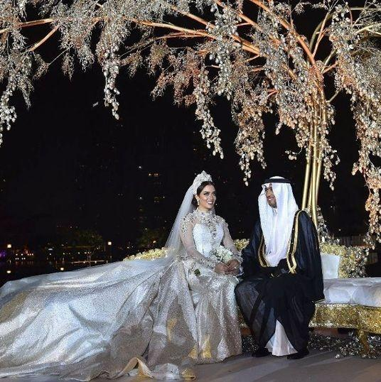 Balqees Fathi's Wedding Dress Train Fell Off During Wedding