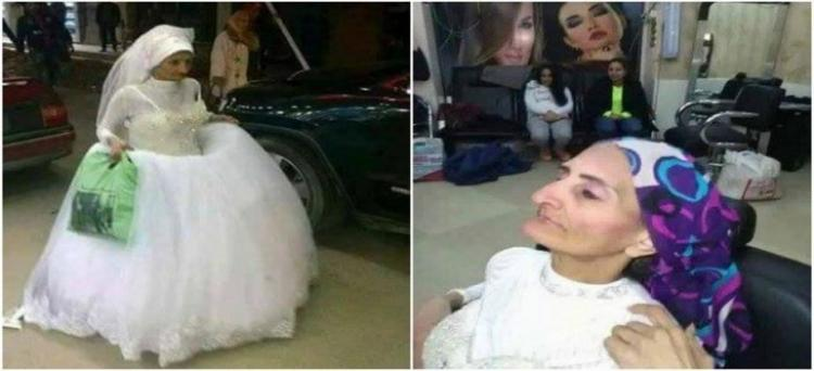 Old Bride Walks The Street of Alexandria Without Groom