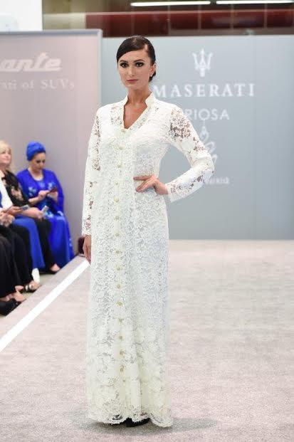 Rania Darwish Showcases Abayas at Premier Motors Maserati Showroom