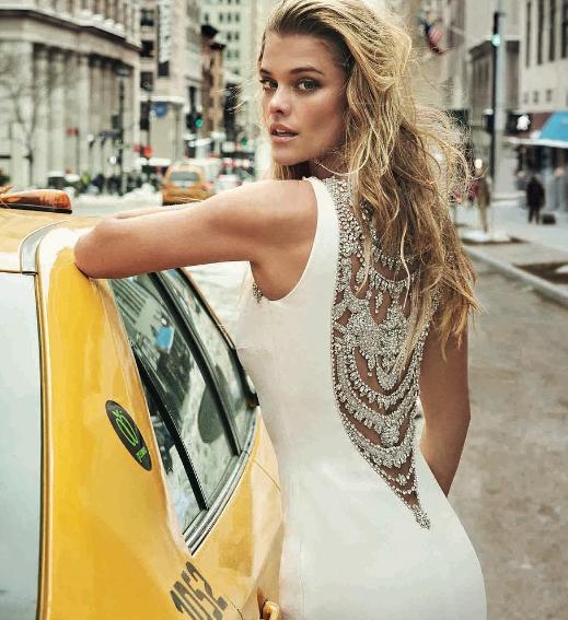 Leonardo DiCaprio's Ex Nina Agdal Models For Atelier Pronovias