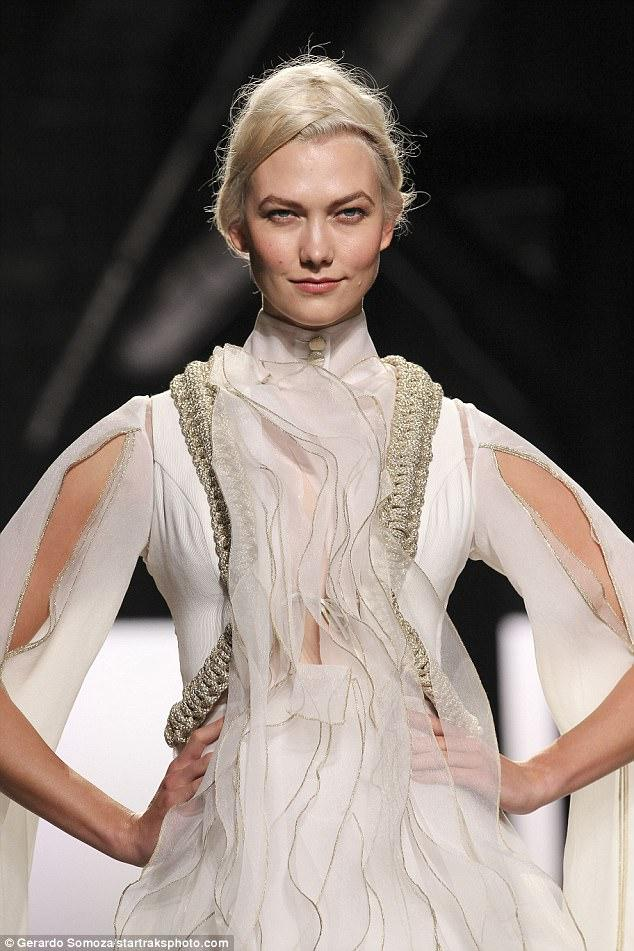 Karlie Kloss Stuns in Wedding Dress at NY Fashion Week