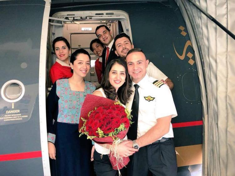 Pictures: A Marriage Proposal On The Royal Jordanian