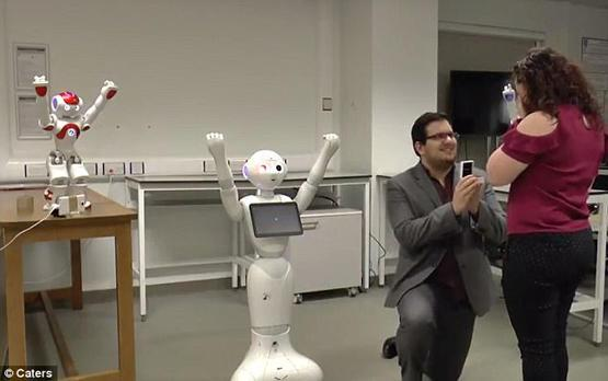Video: A Dancing Robot Marriage Proposal