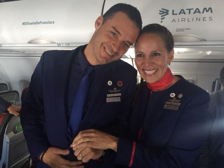Video: Pope Francis Marries Couple Aboard Papal Plane