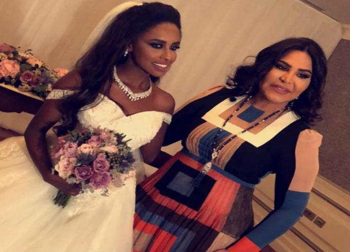 Ahlam Attends The Wedding of Saudi Singer Dalia Mubarak