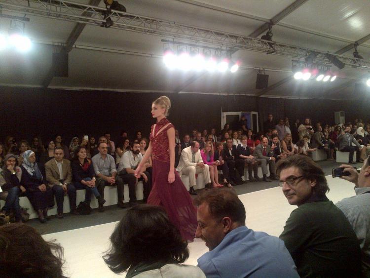 Jamal Taslaq Presents His Latest Bridal Dress at Mercedes Benz Amman Fashion Week