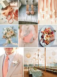Your Wedding in Colors:  Peach and Blue