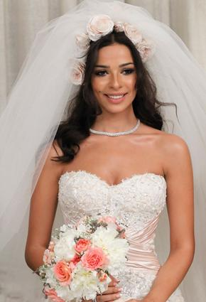 Arab Female Celebrities in Wedding Dresses