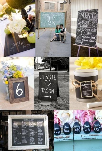 How to Use Chalkboards at Your Wedding