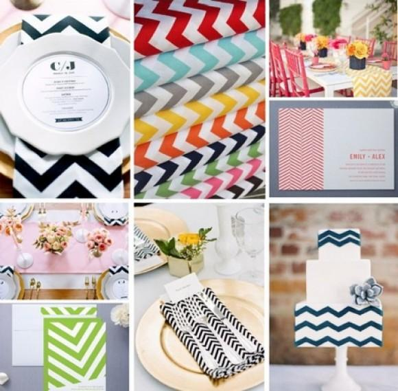 A Chevron Wedding Theme