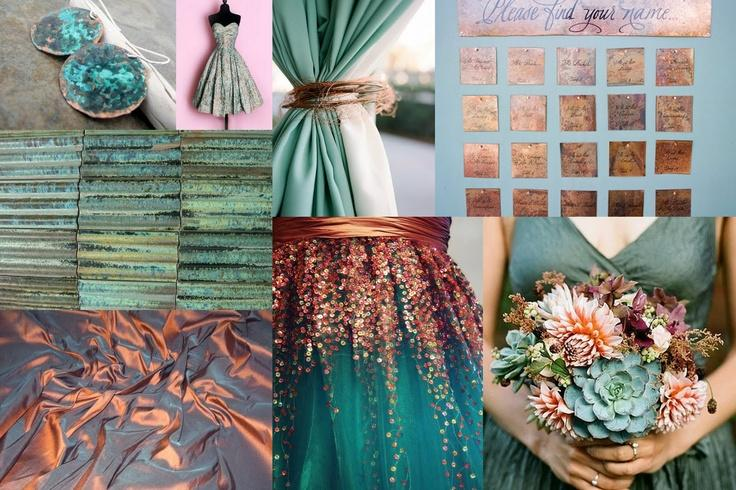 Your Wedding in Colors: Teal and Copper