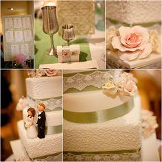 Your Wedding in Colors: Green and Ivory