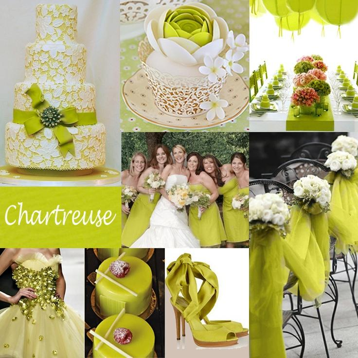 "Your Wedding in Colors: Hot 2015 Wedding Trend ""Chartreuse"""