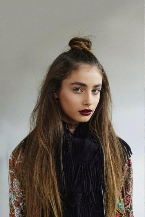The Half Top Knot Hairstyle Trend