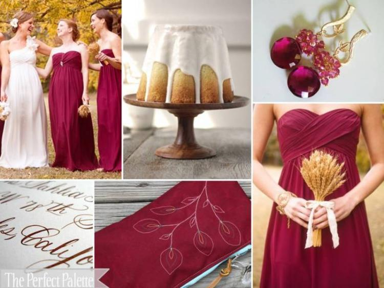 Your Wedding in Colors: Cranberry and Camel