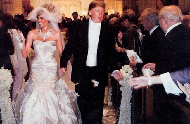 Wedding Dress Inspiration from Donald Trump's Wife Melania Knauss