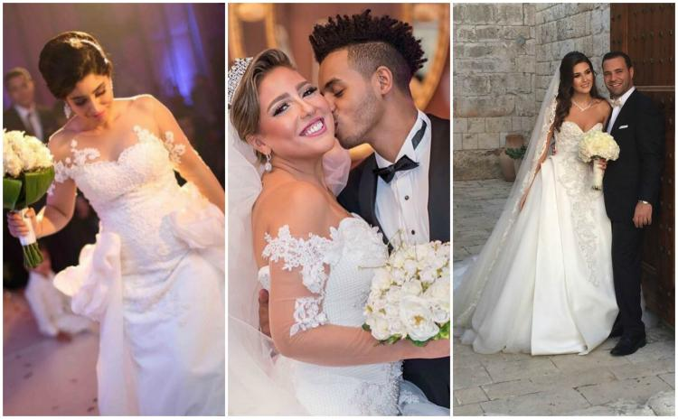7 Stunning Bridal Looks By Arab Celebrities On Their Wedding Day