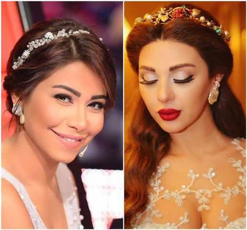 b1f1ca03b صور أجمل اكسسوارات الشعر للعروس مستوحاة من مشاهير عرب | موقع العروس