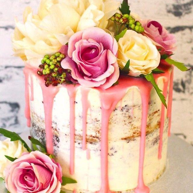 Latest 2016 Wedding Cake Trend: Color Drip Cakes