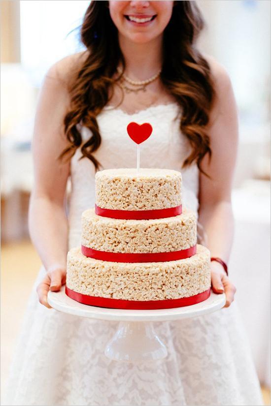 2016 Wedding Cake Alternative: The Wedding Rice Krispie Cake