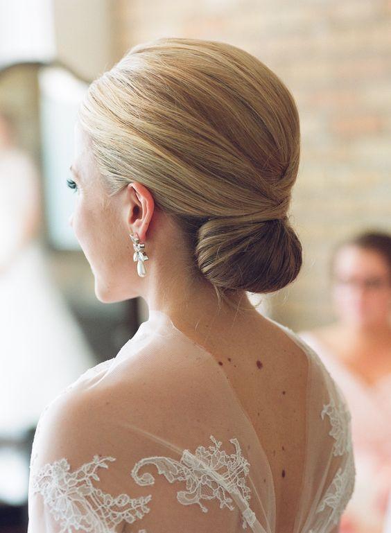 أجمل صيحات تسريحات الشعر: شينيون عروس
