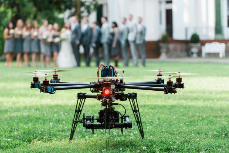 The Top Wedding Photography Trend in 2016: Drones!