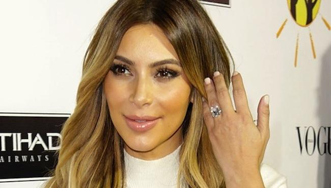 Kim Kardashian's Secret To Keeping Her Engagement Ring Sparkling