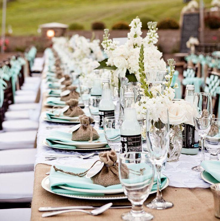 Your Wedding in Colors: Neutrals and Turquoise