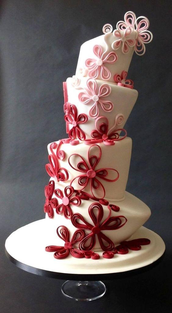 Fun Topsy Turvy Wedding Cakes